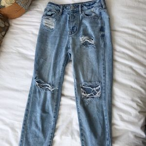 Pacsun mom jeans, distressed